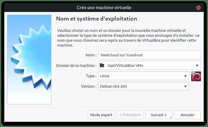 créer une nouvelle machine virtuelle