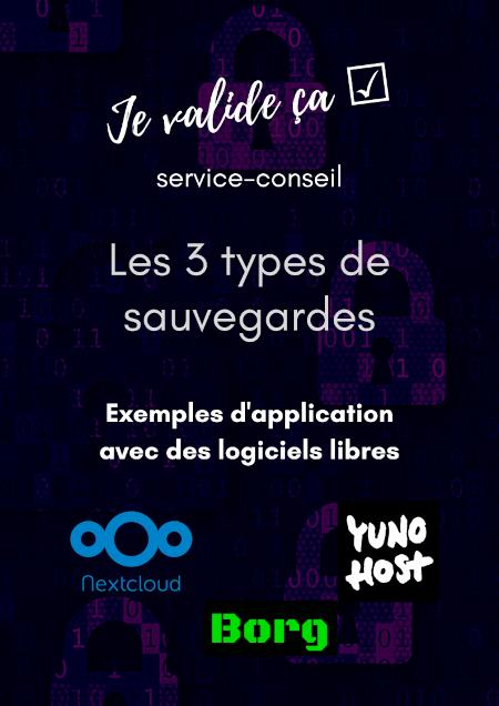 Les 3 types de sauvegardes. Exemples d'application avec des logiciels libres Nextcloud, Yunohost, Borg